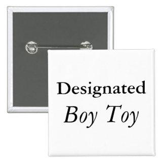Designated Boy Toy 15 Cm Square Badge