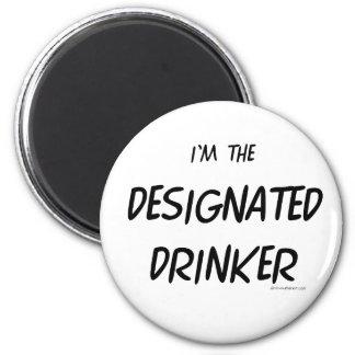 Designated Drinker 6 Cm Round Magnet