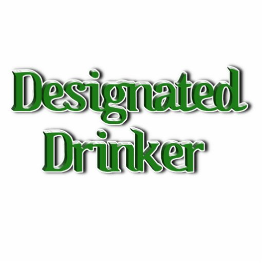 Designated Drinker Text Image Photo Sculptures