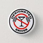 Designated Driver 3 Cm Round Badge