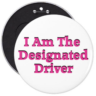 Designated Driver in Pink Button