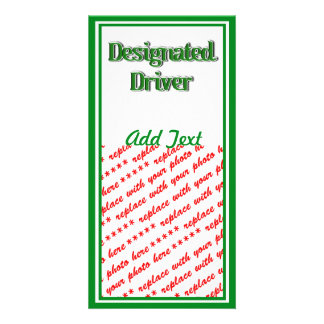 Designated Driver Text Image Photo Card Template