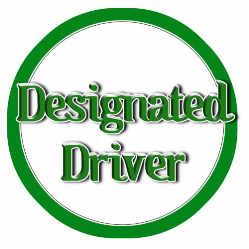 Designated Driver Text Image Acrylic Cut Out