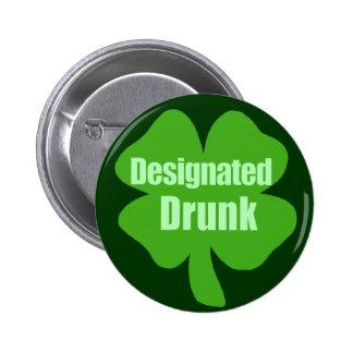 Designated Drunk 6 Cm Round Badge