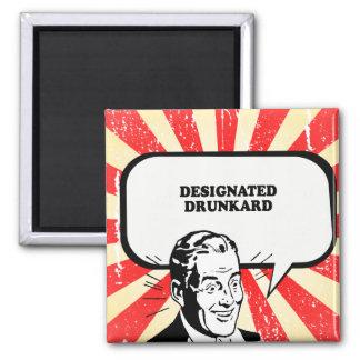 DESIGNATED DRUNKARD T-shirt Square Magnet