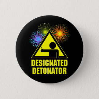 Designated Fireworks Detonator 6 Cm Round Badge