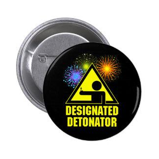 Designated Fireworks Detonator Pinback Button