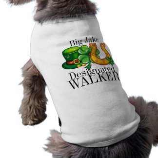 Designated WALKER St. Patrick's Day Doggy Shirt