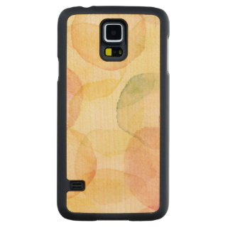 Designed abstract background with watercolor carved maple galaxy s5 case