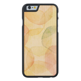 Designed abstract background with watercolor carved® maple iPhone 6 slim case