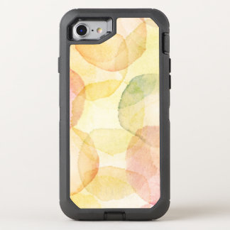 Designed abstract background with watercolor OtterBox defender iPhone 8/7 case