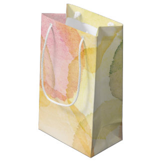 Designed abstract background with watercolor small gift bag
