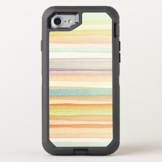 Designed art background. Used watercolor OtterBox Defender iPhone 8/7 Case