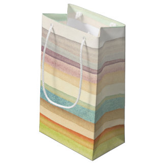 Designed art background. Used watercolor Small Gift Bag