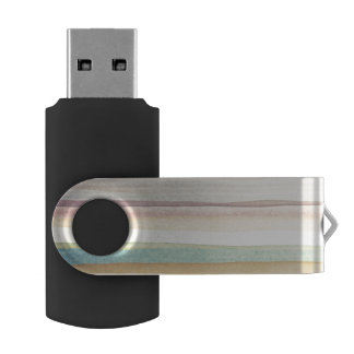Designed art background. Used watercolor USB Flash Drive