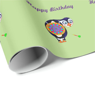 Designed for kids and dart enthusiasts with love f wrapping paper