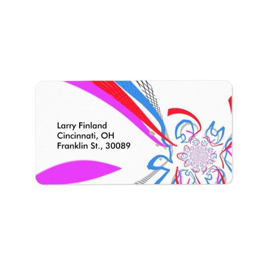 Designed label w/ modern art style address label