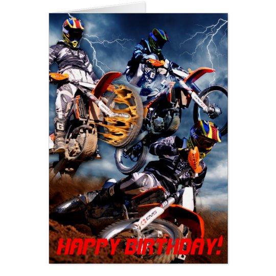 Designed Motocross birthday card