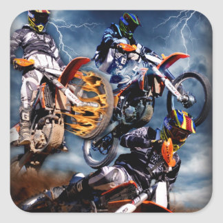Designed motocross stickers