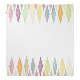 Designed watercolor background bandana