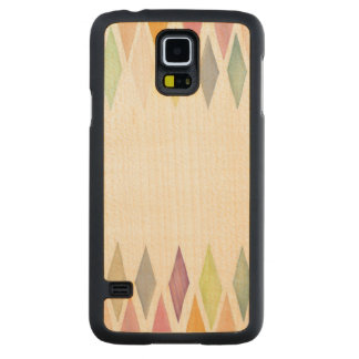 Designed watercolor background carved maple galaxy s5 case