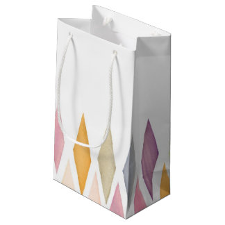 Designed watercolor background small gift bag
