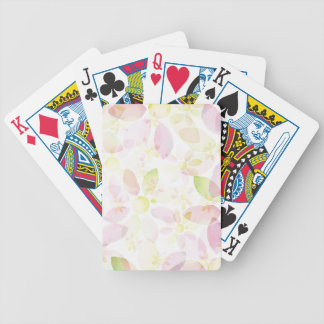 Designed watercolor flower background, texture bicycle playing cards