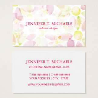 Designed watercolor flower background, texture business card