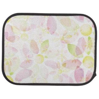 Designed watercolor flower background, texture car mat