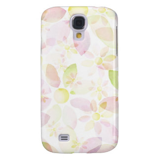 Designed watercolor flower background, texture galaxy s4 case