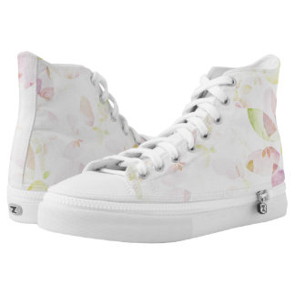 Designed watercolor flower background, texture high tops
