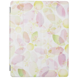 Designed watercolor flower background, texture iPad cover