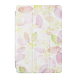 Designed watercolor flower background, texture iPad mini cover
