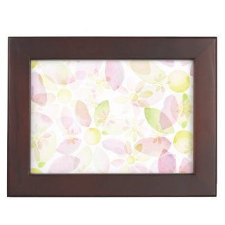 Designed watercolor flower background, texture memory box