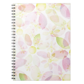 Designed watercolor flower background, texture notebook