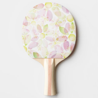 Designed watercolor flower background, texture ping pong paddle
