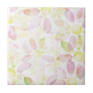 Designed watercolor flower background, texture small square tile