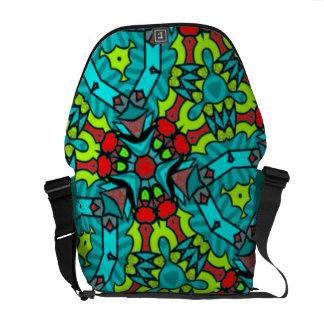 Designer abstract 'graffiti' art messenger bag