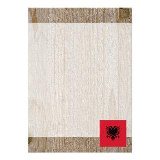 Designer Albania Flag Box 13 Cm X 18 Cm Invitation Card
