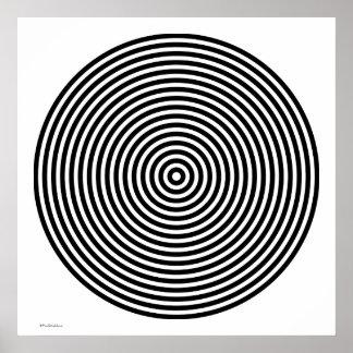 Designer Black and White Poster