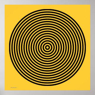 Designer Black and Yellow Poster
