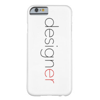 Designer Black&Red Typography Barely There iPhone 6 Case