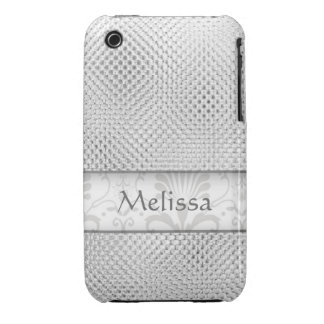 Designer Bling iPhone 3g/3gs Case:Silver iPhone 3 Case-Mate Case