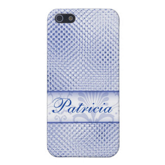 Designer Bling iPhone 4 cases:Blue iPhone 5/5S Covers