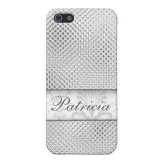 Designer Bling iPhone 4 cases:Silver iPhone 5/5S Cover