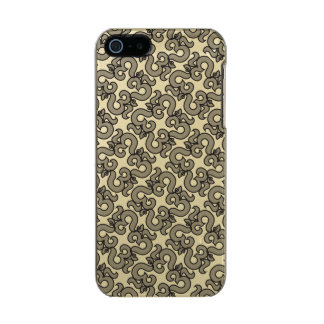 "Designer Brushed Gold ""Houndstooth"" Phone case Incipio Feather® Shine iPhone 5 Case"