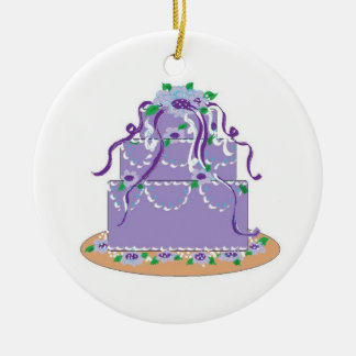 Designer Cake in Shades of Purple Christmas Ornament