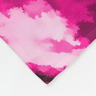 Designer Camo in Hot Pink Fleece Blanket