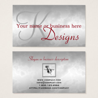 Designer Charcoal Marbled with Red  Business Cards