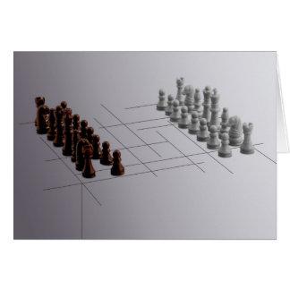 Designer chess card